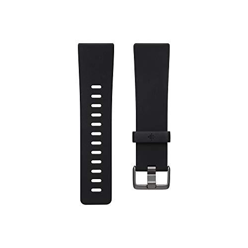 Klassisches Zubehörarmband für Fitbit Versa 2, Schwarz, Klein