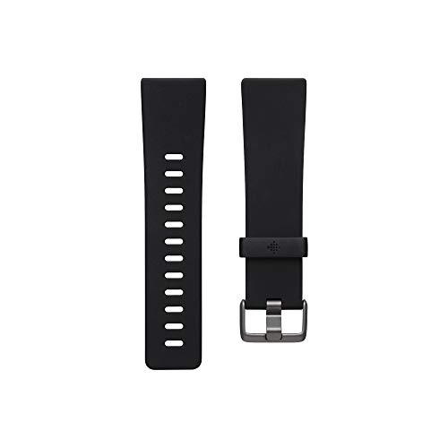 Fitbit Versa Family Accessory Band, Official Fitbit Product, Classic, Black, Small