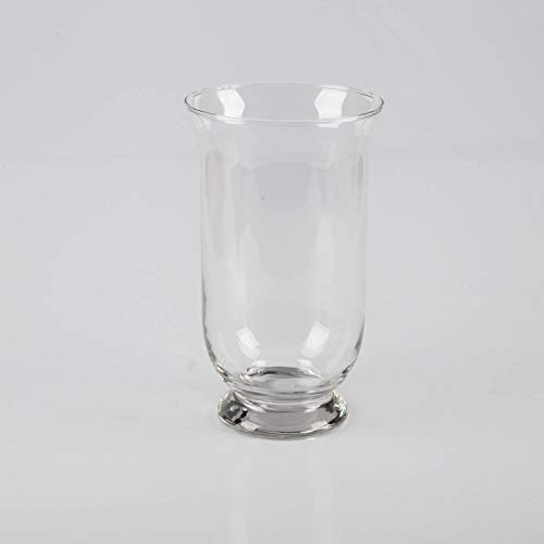 INNA-Glas Portavelas - Florero Lea de Cristal, Transparente, 24cm, Ø 14cm - Jarrón Decorativo - Farol Original