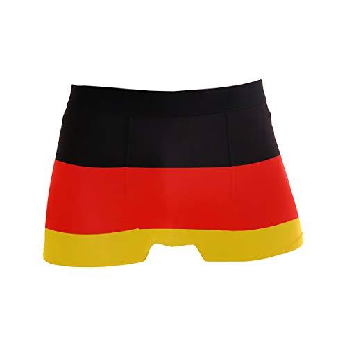 BONIPE Deutschland Flagge Boxer Briefs Herren Unterwäsche Jungen Stretch Atmungsaktiv Low Rise Trunks S Gr. M, mehrfarbig