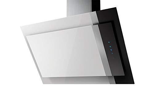 AMICA Tres KHF 694 600 W Kaminhaube/Glas/Edelstahl/Weiß/Schwarz / 90 cm/LED Beleuchtung/Kopffrei