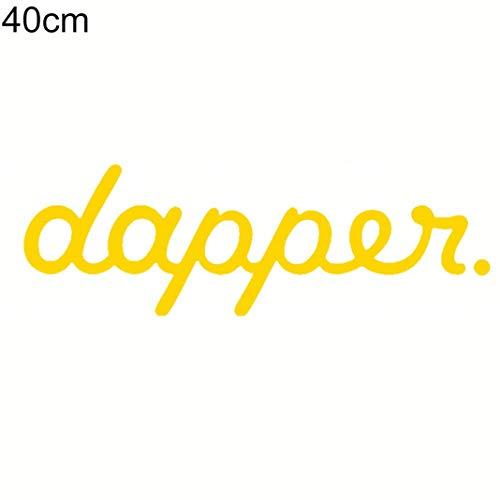 YSHtanj Autoaufkleber Außendekoration Autoaufkleber Dapper Buchstaben reflektierend Auto Karosserie Windschutzscheibe Decals Aufkleber Dekoration - Gelb L