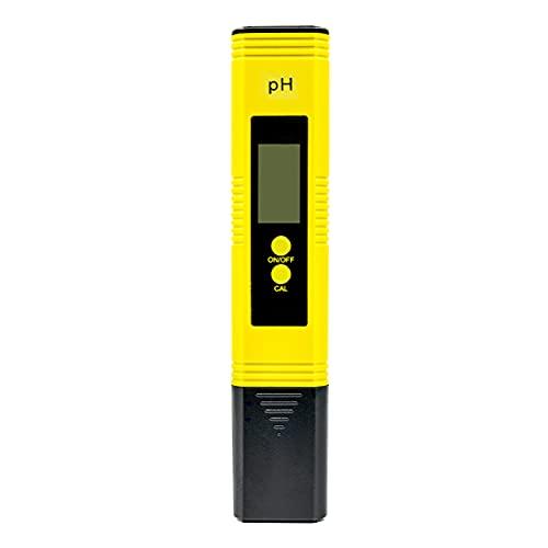 Flytise Medidor de pH Digital con Rango de medición de pH 0-14 Pantalla L Medidor de probador de pH de Agua Digital con ATC para roponía de Agua Potable en el hogar Medidor De Ph Digital