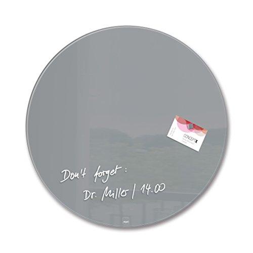 SIGEL GL290 Glas-Magnetboard / Magnettafel Artverum Grau, Kreis Ø 40 cm - weitere Farben/Form