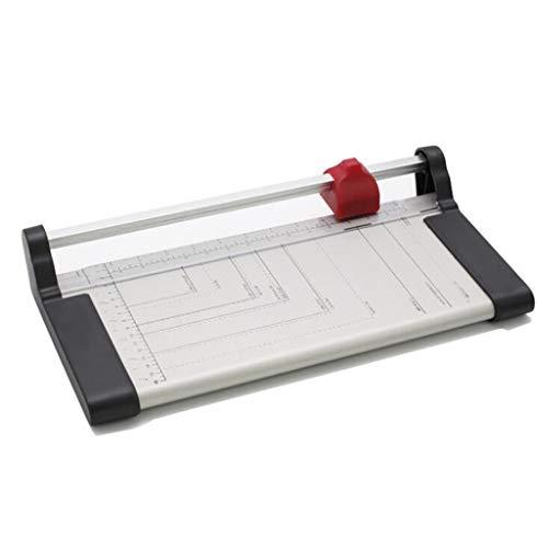Papier Cutter kookplaat Snijmachine Handmatige Metalen RVS Papier Cutter Scrapbooking Tool met Automatische Veiligheid Bescherming voor Craft Papier, Label en Karton Pak voor Thuis, Kantoor en School.