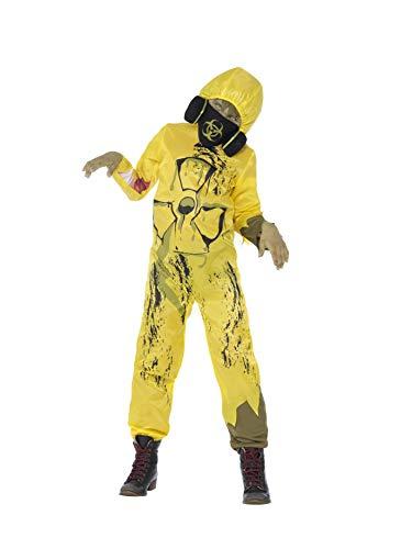 Smiffys 44302L Toxic Waste Kostüm, Jungen, Gelb, L-Alter 10-12 Jahre