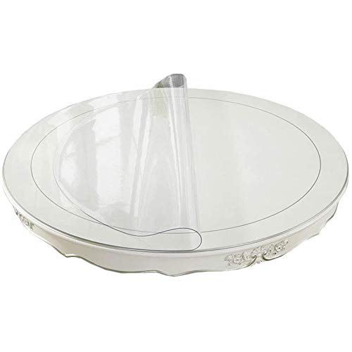 Mantel De PVC, Ordenador Comedor Mantel Impermeable para Suelo De Madera, Esterilla, Suave E Impermeable(1.5mmdiameter 160cm/62.99in)