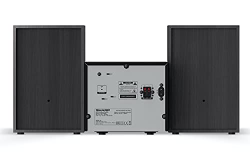 SHARP XL-B515D (BK) Stereo-Soundsystem (40 Watt, digitales Radio mit DAB, DAB+ und FM-Tuner, Bluetooth), schwarz