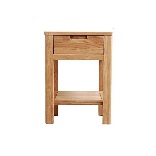TXXM Nachttisch Schlafzimmer Spind, Schlafzimmer Nachttisch, Wohnzimmer Locker, Wohnzimmer Sofa Seitenschrank (Color : Wood Color, Size : 40CM)