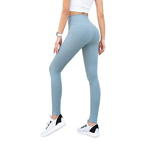 KRILY Yoga Leggings Klassieke buikbesturing hoge taille hardloopbroek trainingsbroek gamassen voor vrouwen