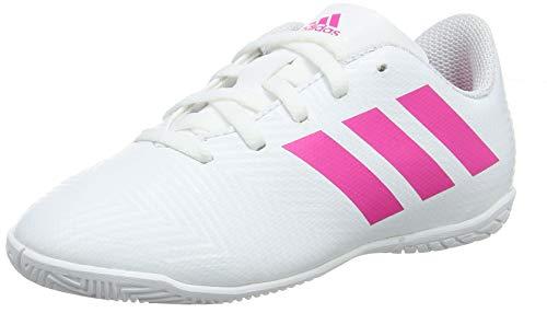adidas Unisex Kinder Nemeziz 18.4 IN Fußballschuhe, Weiß (Footwear White/Shock Pink/Shock Pink 0), 28 EU