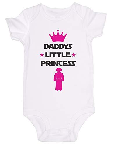 Promini Combinaison bébé mignon – Daddys Little Princess Star Wars – Body bébé mignon en une seule pièce pour bébé - Blanc - 12 mois