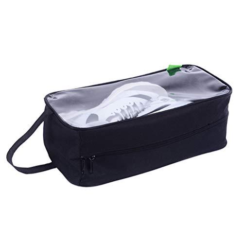 Yardwe - Bolsas de Viaje con cordón para Guardar Zapatos (Transparentes), Color Negro