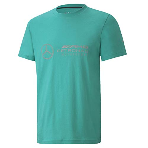 PUMA Herren-T-Shirt mit Mercedes-Amg-Petronas-Logo, Herren, Mercedes AMG Petronas Motorsport Logo T-Shirt, Spectra Green, Medium