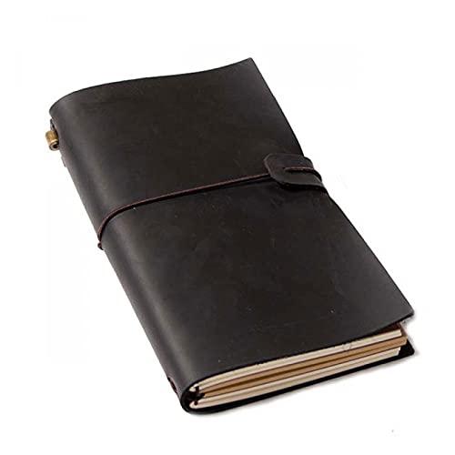 GWGW Libro de Diario de la libreta de Cuero de la libreta de Cuaderno(marrón 1)