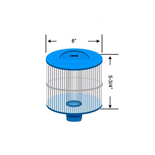 Clarathon Replacement Filter for 2013+ Bullfrog Spa - 10-2870 Blue Media with Longer Threaded Fitting