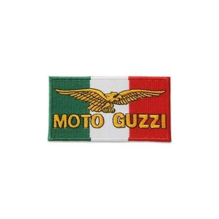 Moto Guzzi Toppa termoadesiva con cappuccio ricamato con cappuccio maglietta in denim borsa sportiva per moto grande bici classica