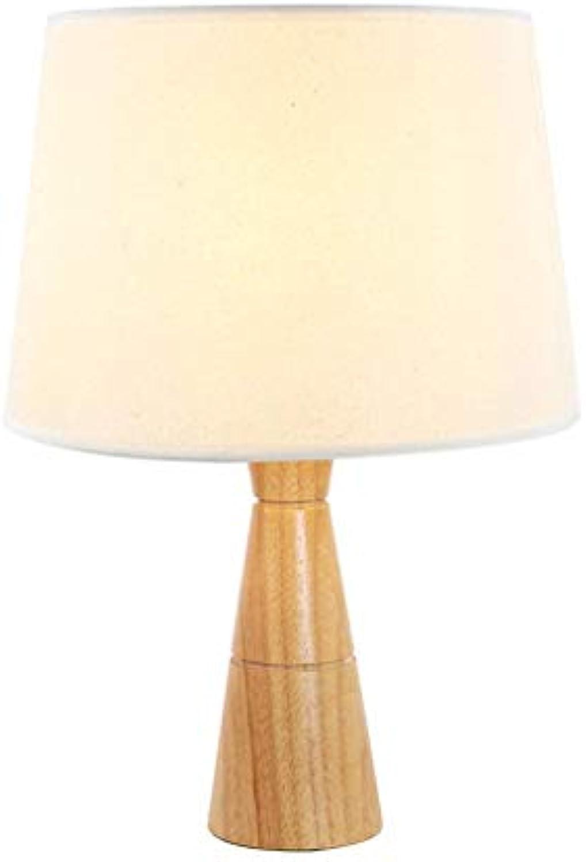 Schreibtischlampen Tischlampe, Landhausstil Wohnzimmer Schlafzimmer Studie Student Eye Tischlampe Kreative Einfache Massivholz Tuch Tischlampe, Tischlampe Tisch- & Nachttischlampen