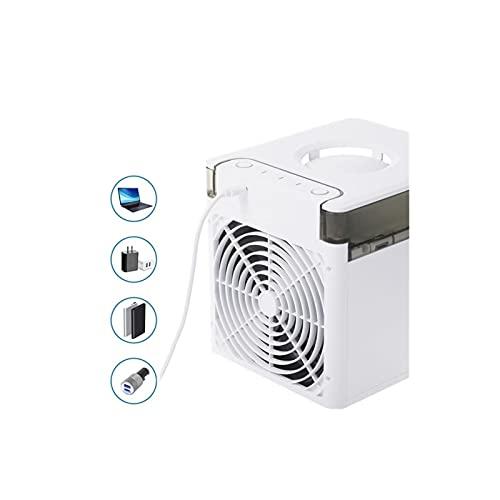 Useful Aire acondicionado portátil Aire acondicionado Evaporativo Acondicionador de aire Fan Cooler con 3 velocidades 7 colores para oficina, habitación, camping convenient ( Color : Navy blue )
