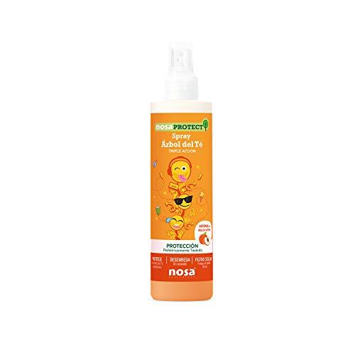 Nosa Healthcare Nosaprotect, Spray triple acción Melocotón. Protección contra piojos.