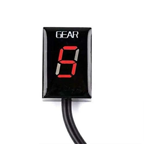 Pantalla de Velocidad Display genérico for Modificado Display de velocidades for Kawasaki ER-6N,Z750,Z800 Z1000 Motocicletas Accesorios para Motocicletas (Color : Red)
