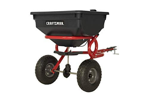 Craftsman CMXGZBF7124322 85-Pound Tow Broadcast Spreader, Red
