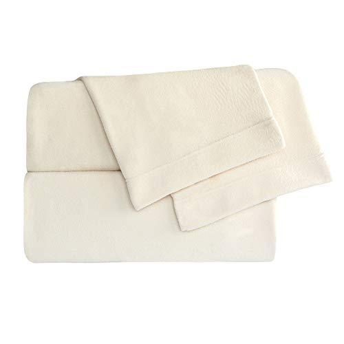 Cozy Fleece Microfleece Sheet Set, King, Ivory
