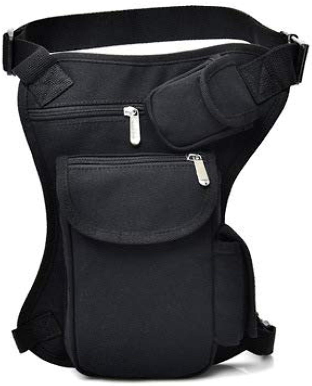 Men's Drop Leg Pouch Tools Bags Tactical Leg Bag Purse Fanny Pack Thigh Bags Bike Cycling Hip Bag Canvas (Black)