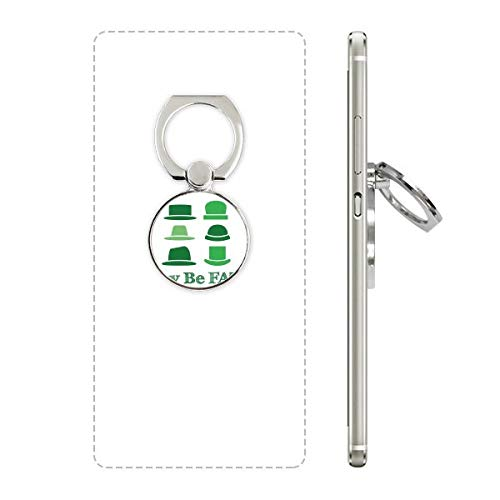 DIYthinker Green Hoed Chinese Joke Fate Telefoon Ring Stand Houder Beugel Universele Smartphones Ondersteuning Gift