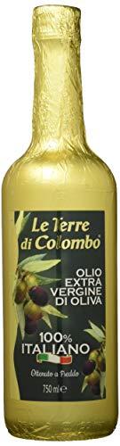 Le Terre di Colombo – 100Prozent Italienisches Natives Olivenöl Extra - Goldumhüllte Flasche - 0,75 l