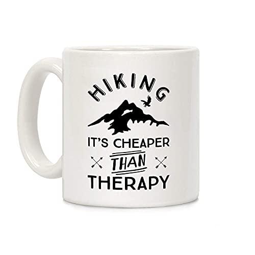 Wandelen Het Is Goedkoper Dan Therapie Witte 11 Ounce Keramische Koffiemok P1