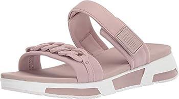 FitFlop Womens Heda Chain Slide Sandal Shoes Mink US 10