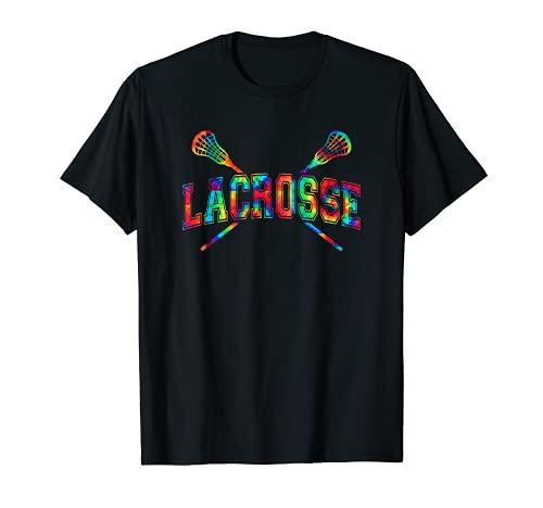 Lacrosse Hoodie Tie-dye Crossed Sticks Head Men Women Boys T-Shirt