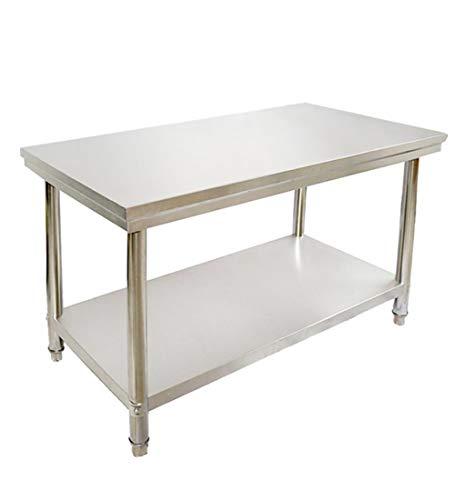LIXILI Mesa de Trabajo y preparación para Cocina Comercial, mesas de preparación de Alimentos de Acero Inoxidable,35.43L x 23.62W
