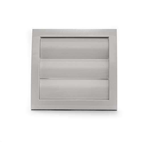 Vent Systems Tapa de ventilación blanca de 10 cm / 100mm para secadora y tubo de ventilación del baño. Rejilla blanca para exterior. Mantener alejados a los insectos, pájaros y roedores