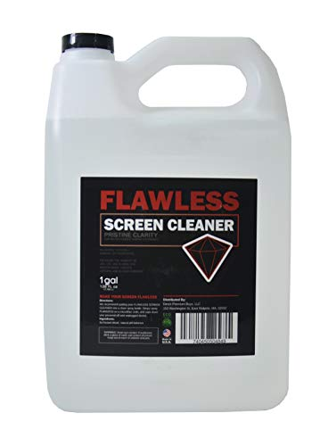 Flawless Screen Cleaner Spray with Microfiber Cleaning Cloth for LCD, LED Displays on Computer, TV, iPad, Tablet, Phone, and More (1 Gallon)