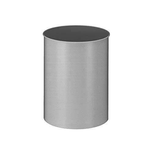 Papierkorb, Metall, rund, Inhalt 30 l, Höhe 470 mm, Aluminium - Papierkörbe Abfalltrennsysteme Sicherheitspapierkörbe Universalmüllsammler Papierkörbeysteme Sicherheitspapierkörbe Universalmüllsammler Papierkörbeysteme Sicherheitspapierkörbe