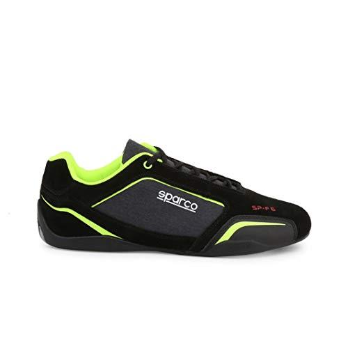 SPARCO Hombre SP-F6 Zapatillas Bajas Calzados de Deportes Negro-Lima EU 44