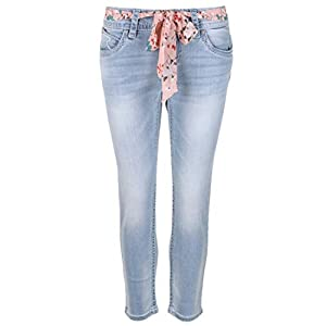 Blue Monkey Damen 7/8 Jeans Charlotte blau