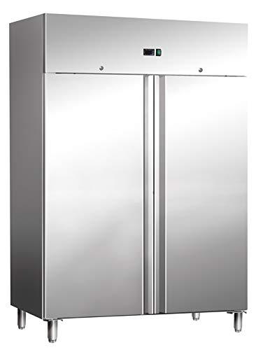Frigorífico de acero inoxidable, 1311 litros, frigorífico estándar, frigorífico industrial, para gastronomía, enfriamiento por convección de aire, 1480 x 830 x 2000 mm