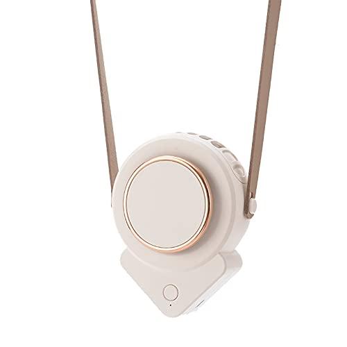 Beare Ventilador de collar colgante, mini ventilador, 3 velocidades de viento, portátil, con cuerda colgante, mini ventilador para el hogar
