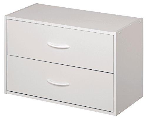 ClosetMaid 1566 Stackable 2-Drawer Horizontal Organizer, White