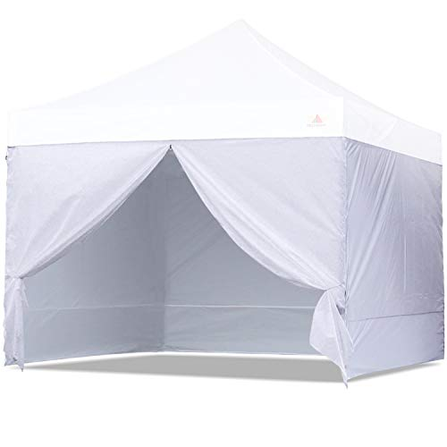 kit tents ABCCANOPY Sidewall Kit,Canopy Tent Side Walls 10x10,4 Walls ONLY (White)