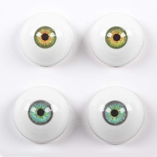 2Pairs of Silicone TPE Dolls Eyes,32mm Half Round...