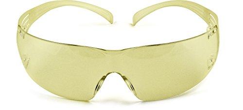 3M Schutzbrille Secure Fit 200, AS, AF, UV, PC, Rahmen gelb, 1 Stück, gelb, SFIT2AF