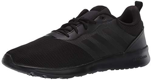 adidas Women's QT Racer 2.0 Running Shoe, Black/Black/Onix, 8
