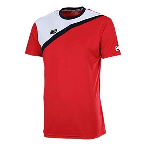 John Smith ACIS Camisetas, Hombre, Rojo/Blanco, S