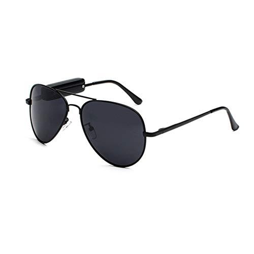 Auriculares inalámbricos Gafas Frog Mirror Gafas de Sol polarizadas Gafas de Sol Inteligentes (Negro Gris)