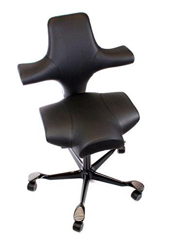 HAG Capisco model 8106 in zwart leer bureaustoel
