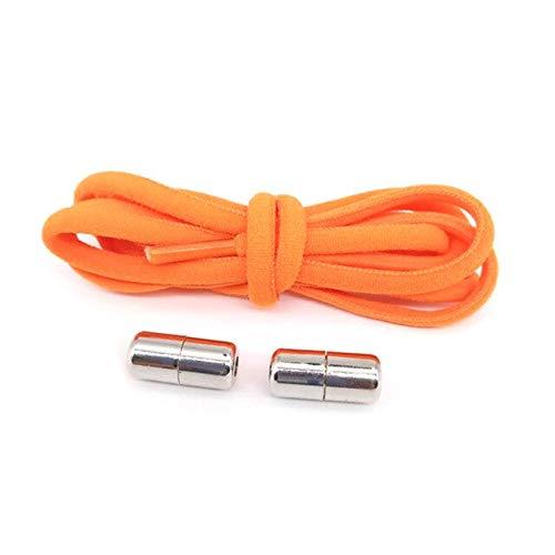 1 par de cordones de moda elástico de bloqueo de los cordones de las zapatillas de deporte de los cordones rápidos unisex rápido perezoso zapatos cordones Shoestrings